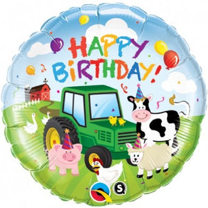 Happy Birthday Farm Animals Helium Filled Foil Balloon