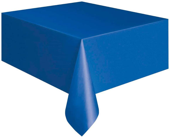Royal Blue Rectangular Plastic Tablecover