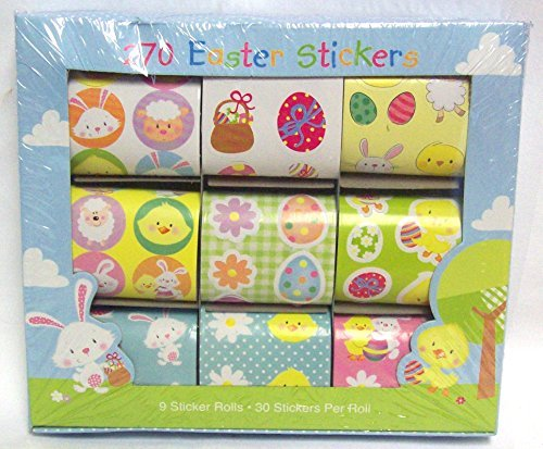 270 Easter Stickers In Assorted Designs