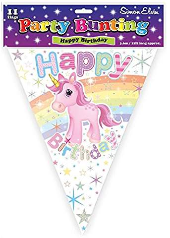 Happy Birthday Unicorn Bunting