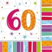 Radiant 60 Party Napkins x16