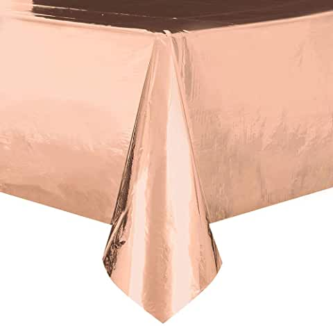 Rose Gold Plastic Tablecover