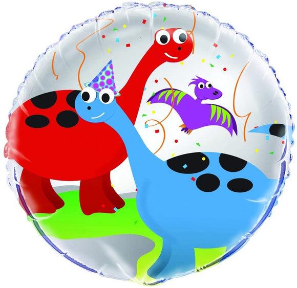 Dinosaurs Helium Filled Foil Balloon