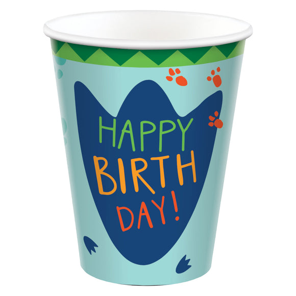 Dino-Mite Paper Party Cups x8