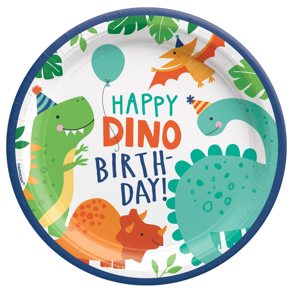 Dino-Mite Paper Party Plates x8