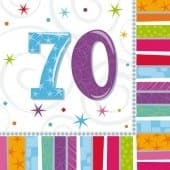 Radiant 70 Party Napkins x16