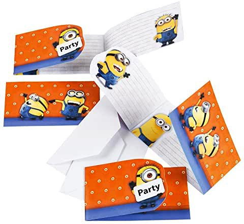 Despicable Me Minions Invitations And Envelopes (6 Pack)