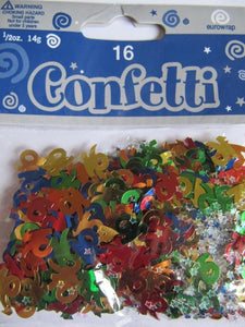 Multi Colour 16 Metallic Confetti 14g