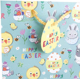 Happy Easter Extra Wide Large Gift Bag (Ideal For Easter Eggs)