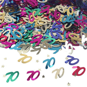Multi Colour 70 Metallic Confetti 14g