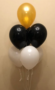 7 Latex Balloon Cluster