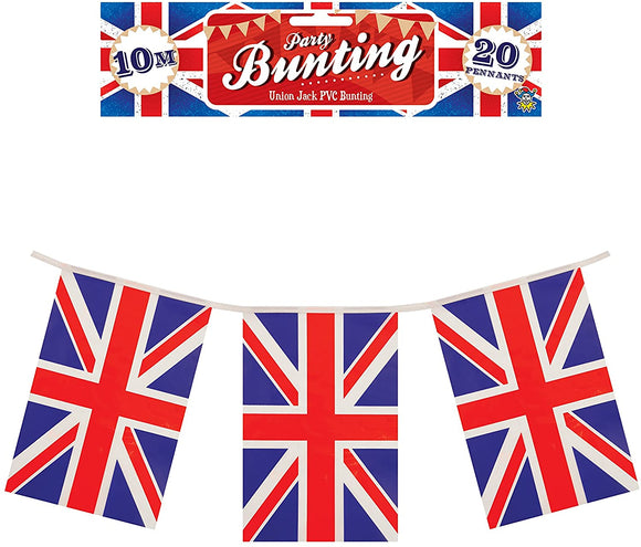 Union Jack PVC Flag Bunting 10m Long