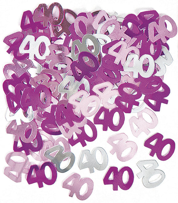 Pink And Silver 40 Metallic Confetti 14g