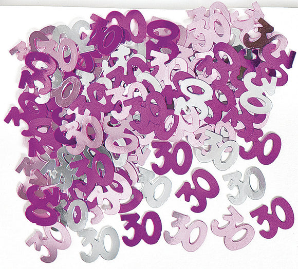 Pink And Silver 30 Metallic Confetti 14g