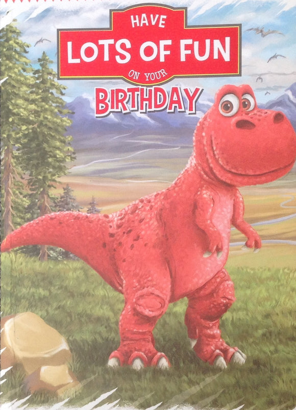 Dinosaur Birthday Greeting Card