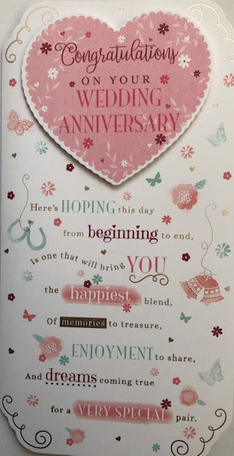 Congratulations On Your Wedding Anniversary Greeting Card