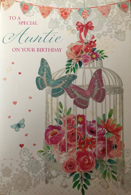 To A Special Auntie Birthday Greeting Card