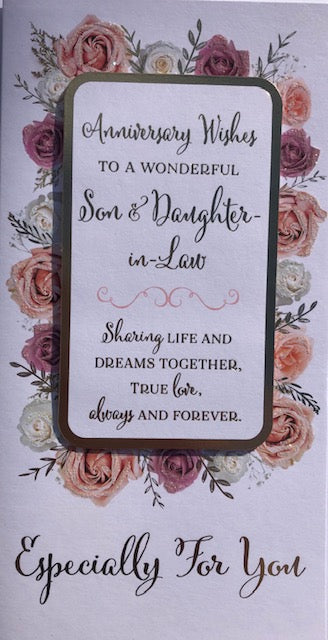 Anniversary Wishes To A Wonderful Son And Daughter-In-Law Greeting Card