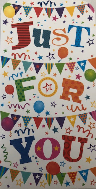Just For You Balloons And Bunting Money Wallet