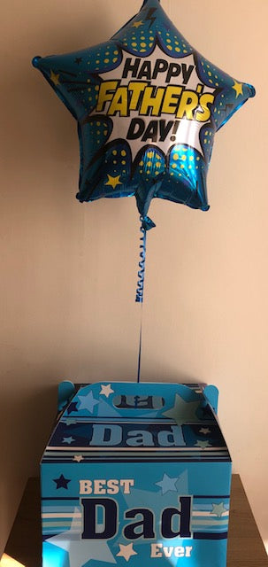 Father's Day Helium Filled Foil Balloon In A Box