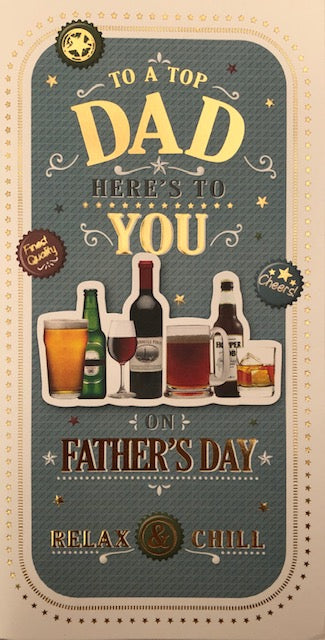 To A Top Dad Father's Day Greeting Card