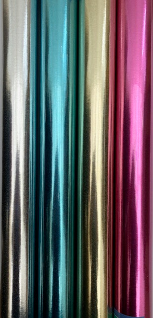 Holographic Wrapping Paper Roll 1.5m In A Choice Of 4 Colours