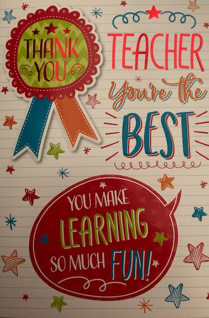 Teacher You're The Best Greeting Card