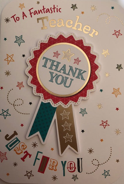 To A Fantastic Teacher Thank You Greeting Card
