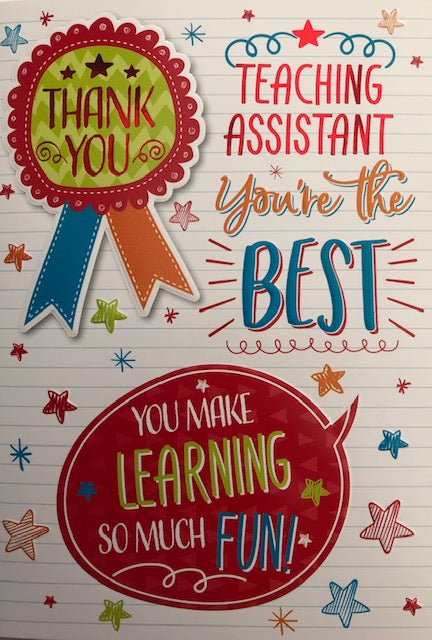 Teaching Assistant You're The Best Greeting Card