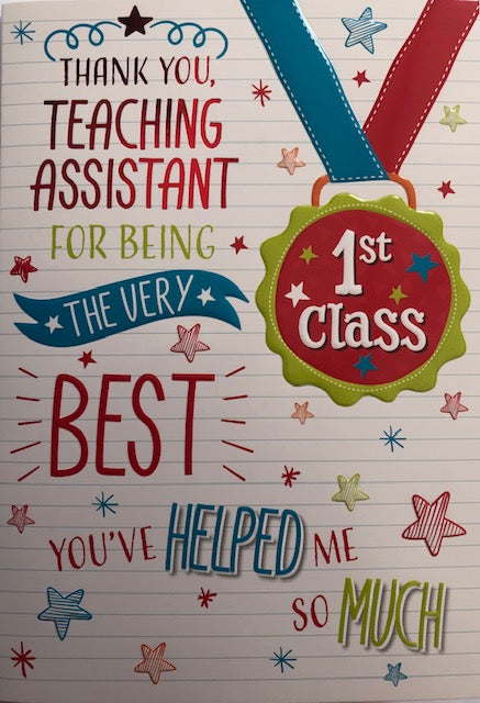 Thank You Teaching Assistant 1st Class Greeting Card