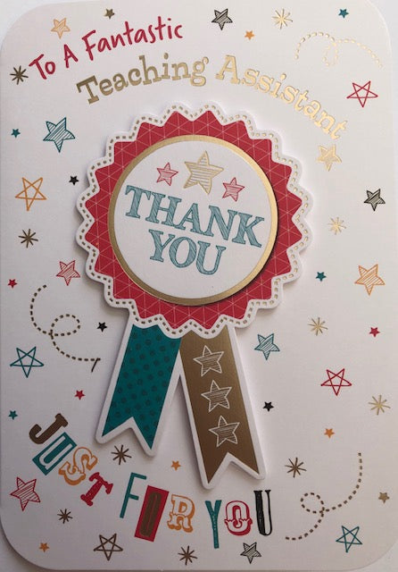 To A Fantastic Teaching Assistant Thank You Greeting Card