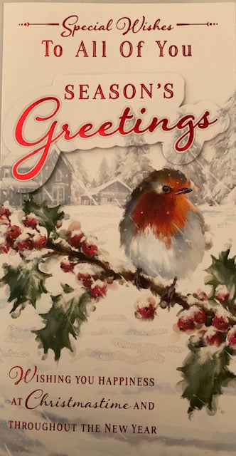 Special Wishes To All Of You Christmas Greeting Card