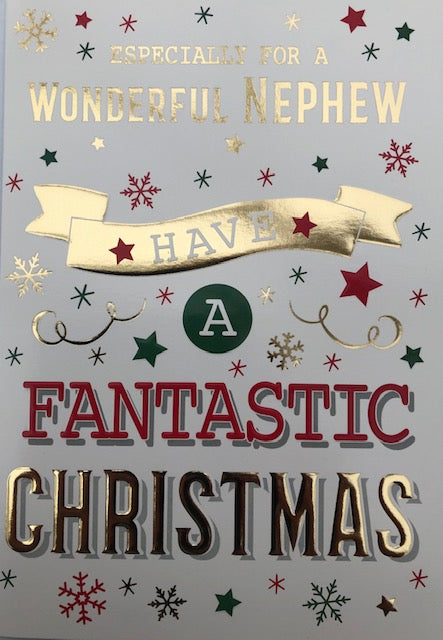 Especially For A Wonderful Nephew Christmas Greeting Card