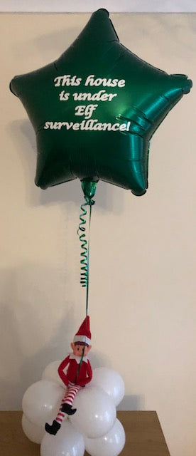 This House Is Under Elf Surveillance Helium Filled Foil Balloon