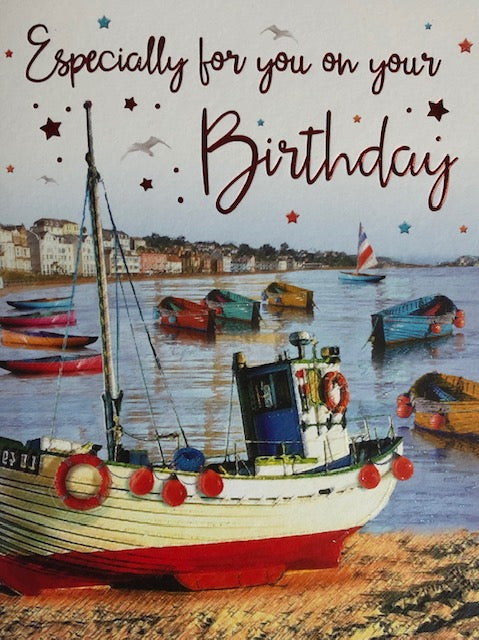 Especially For You Boats Birthday Greeting Card