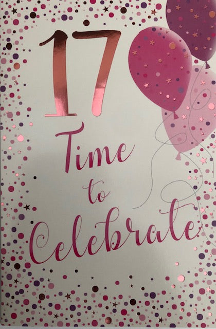 17 Time To Celebrate Birthday Greeting Card