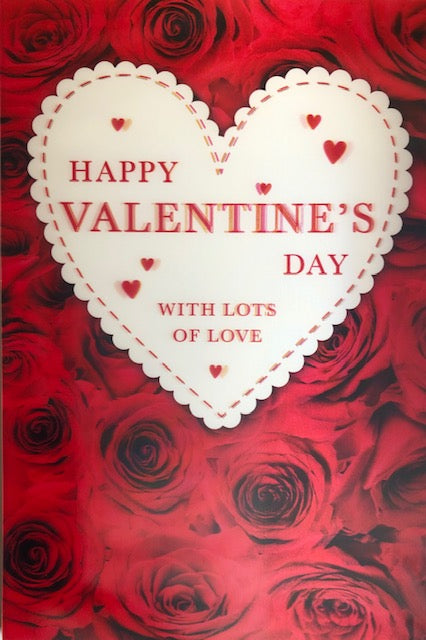 Happy Valentine's Day 3D Greeting Card