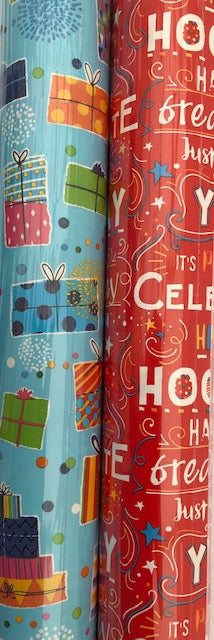 Birthday Gift Wrapping Paper 3m