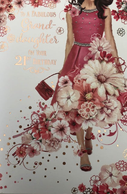 To A Fabulous Grand-Daughter 21st Birthday Greeting Card