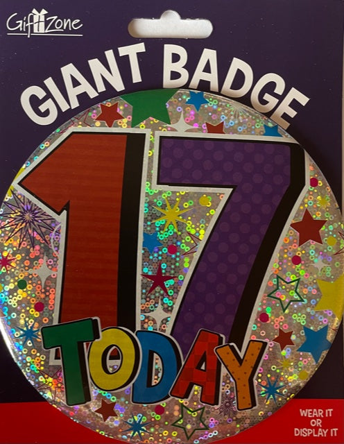 17 Today Jumbo Badge