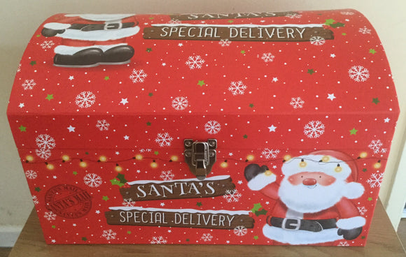 Christmas Small Chest Box Santa's Special Delivery 40cm x 29cm