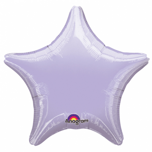 Metallic Pastel Lilac Star Shape Helium Filled Foil Balloon