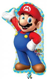 Super Mario Supershape Helium Filled Foil Balloon