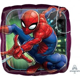 Spiderman Square Helium Filled Foil Balloon