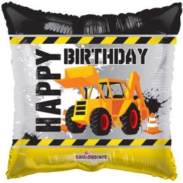 Digger Happy Birthday Helium Filled Foil Balloon