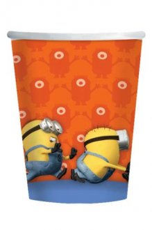 Despicable Me Minions Paper Party Cups x8