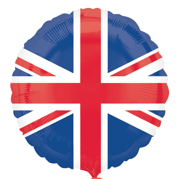 Union Jack Helium Filled Foil Balloon