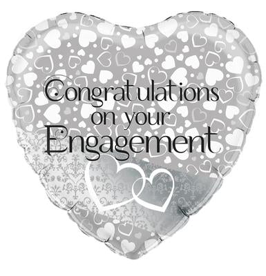 Entwined Hearts Engagement Helium Filled Foil Balloon
