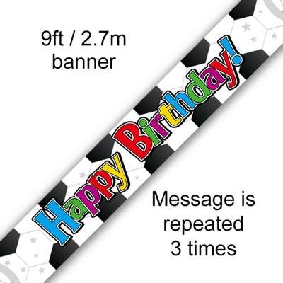 Happy Birthday Football Banner