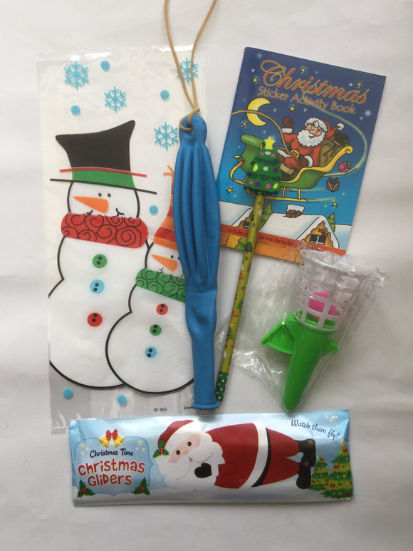 Snowman Cello Pre-Filled Party Loot Bag